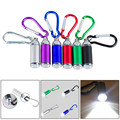 New 1W Mini Pocket LED Flashlight Telescopic Zoom Carry Carabiner Light Lamp Cycling Bicycle Accessories High