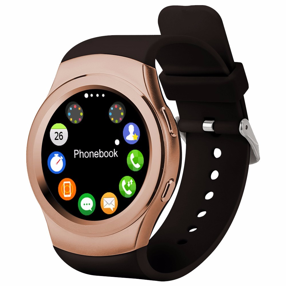 NO.1 G3 Fashion Smart Watch Round Screem With bluetooth &SIM Hear Rate Monitor For IOS Android Phone