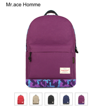 Mr.ace Homme fashion women backpack star Waterproof women laptop backpack Hip-Hop travel bag women Nylon backpacks(China (Mainland))