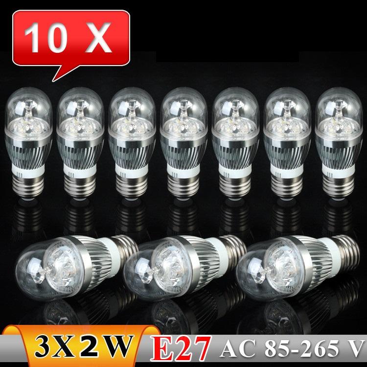 10PCS 6W  E27 AC85~265V white/warm white/cool white  LED Crystal  Light Spot Light LEDBulb  Lamp High quality 2012 NEW Model<br><br>Aliexpress