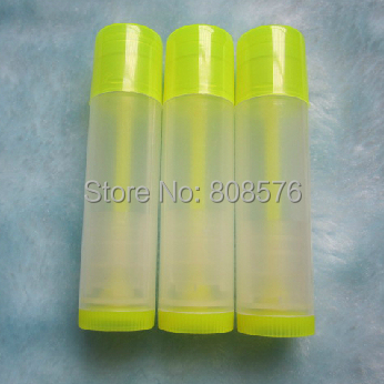 Yellow Transparent Lip Balm Tube,Cosmetic Lipstick Tube,Plastic Cosmetic Tube Packaging - MUSHINE SHINING store