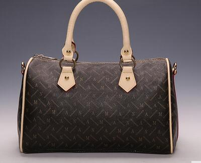 Fashion Free Shipping DHL top-quality speedy 30 NO STRAP monogram real oxidation canvas women tote bag(China (Mainland))
