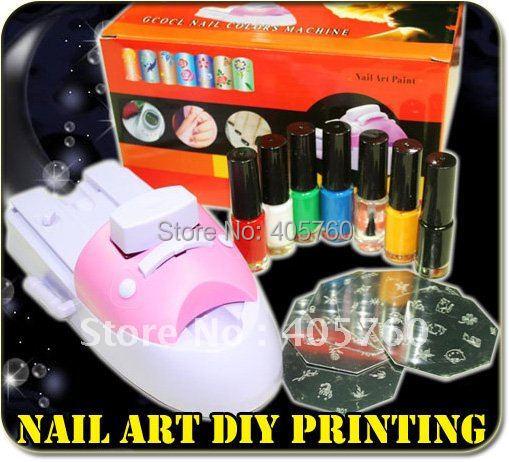 Nail Art Stamper Colour Printer Printing Stamp Machine nail stamping printing machine polish nail printer set Wholesale(China (Mainland))