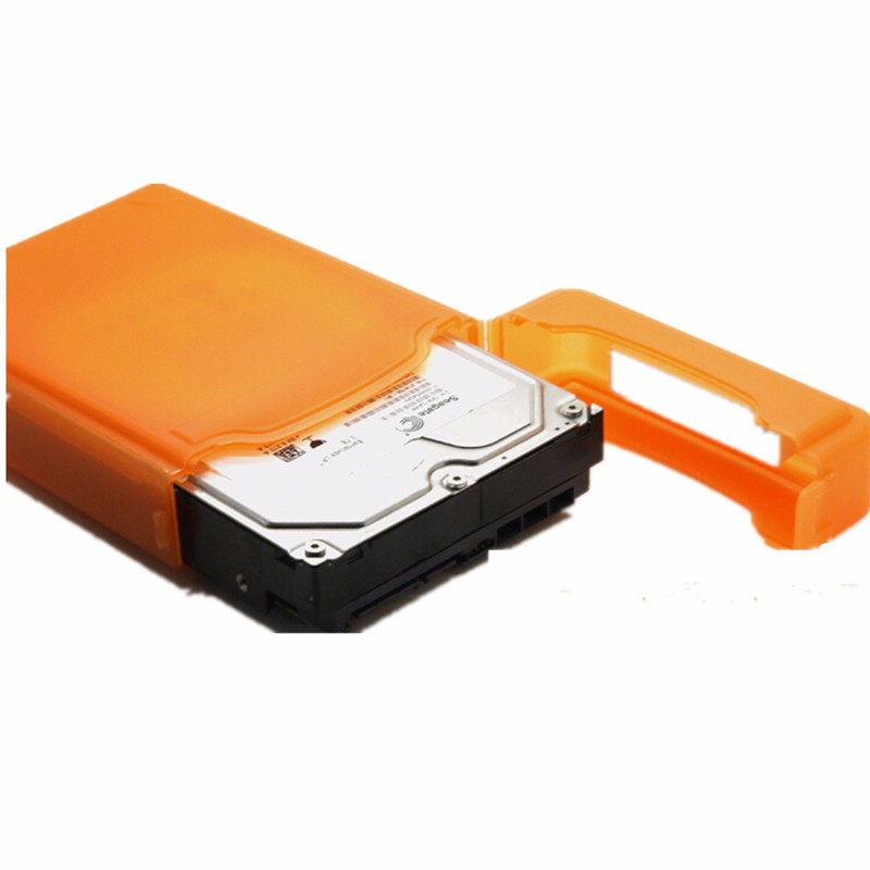 Top Quality 3.5 Portable IDE SATA Hard Disk Drive HDD Protective Storage Case Box Enclosure For Seagate For Western Digital(China (Mainland))