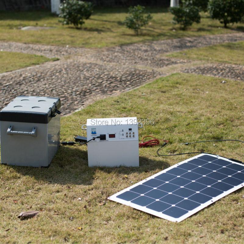 2016 Refrigerator 100W High Efficiency PV Thin Film Solar Panel Solar Power System Solar Controller(China (Mainland))