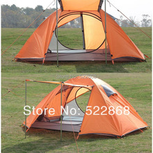 Outdoor camping tent double bunk quarters full anti- adhesive aluminum pole tent waterproof tent(China (Mainland))