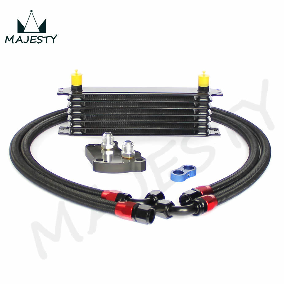 7 row oil cooler  mini cooper s supercharger r53 engine oil cooler  black+fitter kits black<br><br>Aliexpress