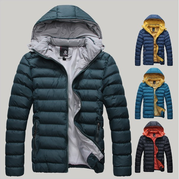 Down jackets for men detachable cap high quality casual down coat thickening cotton mens coats and jackets free shipping(China (Mainland))