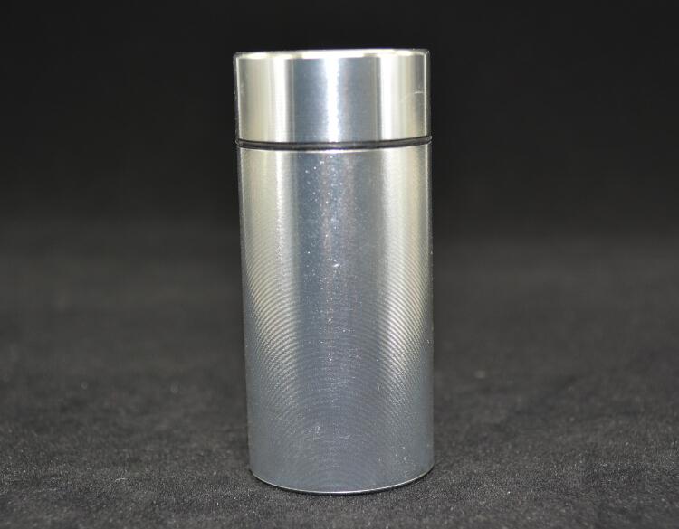 100pcs/lot mini Pill Box WaterProof Aluminum pill box pill case mental case Bottle Holder Container Silver(China (Mainland))
