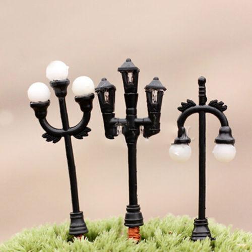 Гаджет  Mini Streetlights Miniature Garden Ornament Plant Pots Fairy Dollhouse Craft DIY AL3283 None Дом и Сад