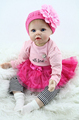 22inch 55cm Silicone baby reborn dolls lifelike doll reborn babies toys for girl pink princess gift