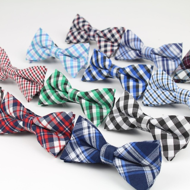 Дети мода формальные хлопка галстук-бабочка малыш классическая полосатый Bowties ...