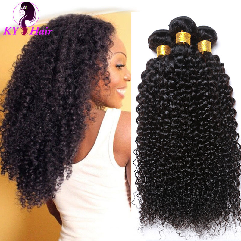 6A Indian Virgin Hair Curly 5 Bundles Lot Virgin Kinky Curly Hair Bundles Cheap Hair Extension With Free Shipping