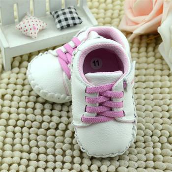 Pink Baby Girl Soft Soled Shoes Newborn Walking Anti-slip Toddler Sneaker