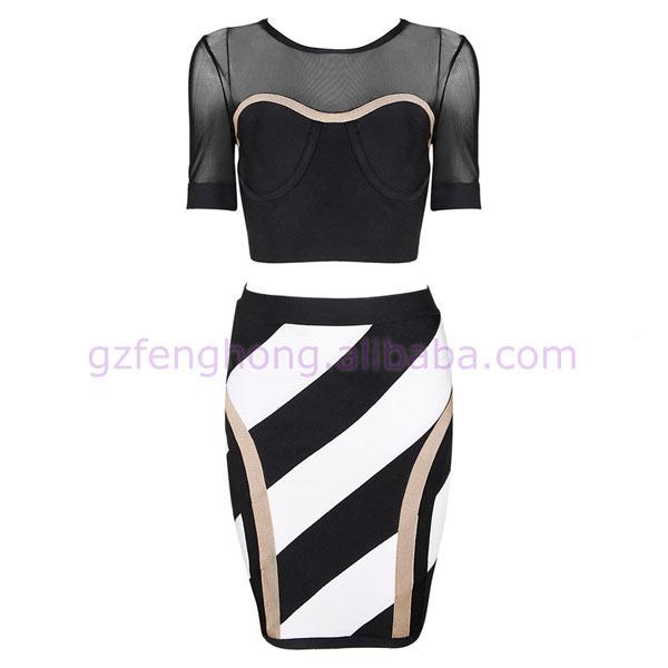 Fashion black half sleeve bandage dress alibaba express dress prom dresses 2015(China (Mainland))