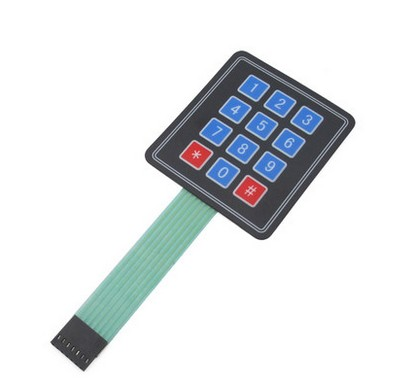 3*4 Matrix Array 12 Key Membrane Switch Keypad Keyboard 3*4 Control Panel Microprocessor Keyboard Controller Arduino