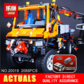 NEW LEPIN 20019 technic series 2088pcs Mechanical cars unni monk Model Building blocks Bricks Compatible 8110