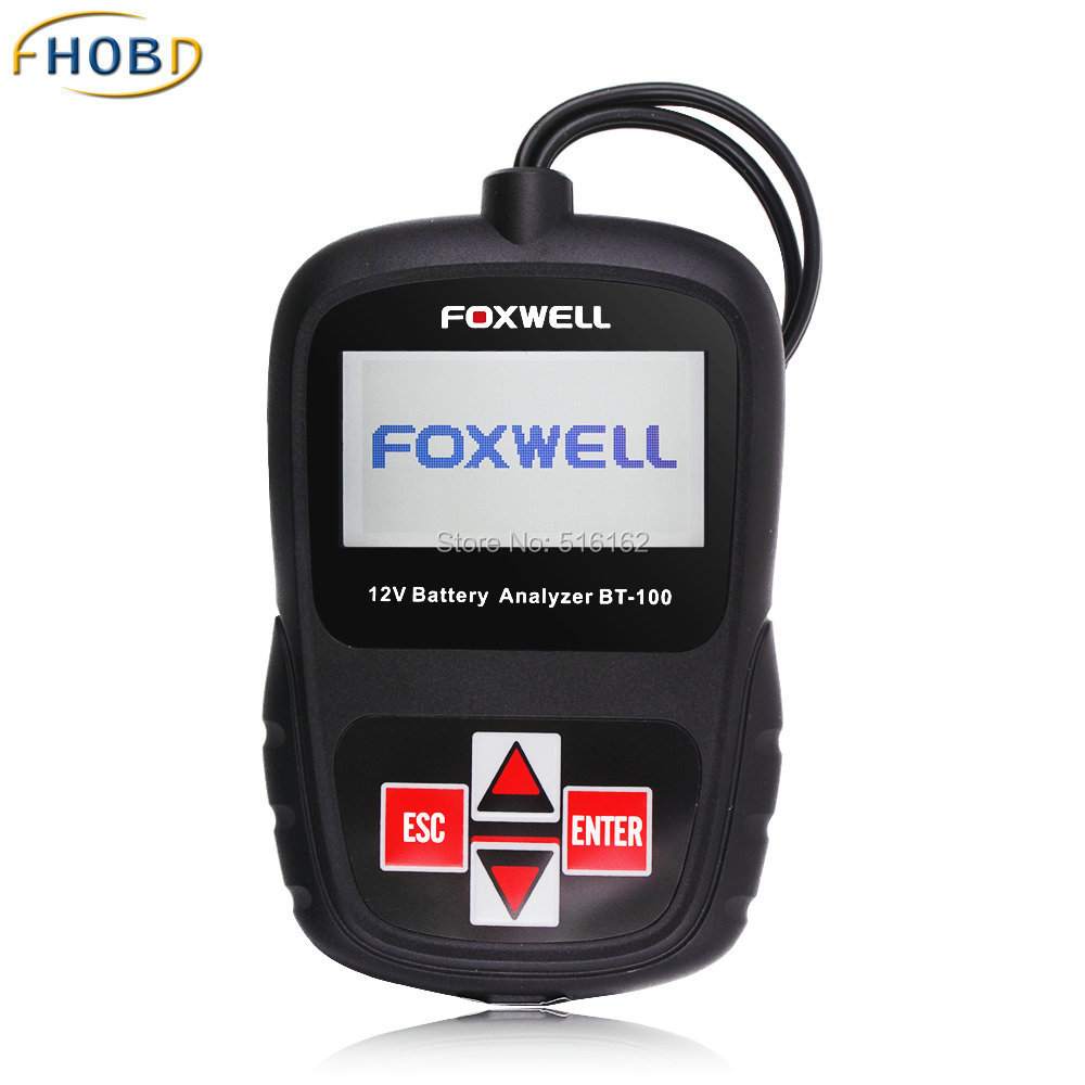 Car Battery Tester 12V Analyzer German Italian Dutch Polish Portuguese Russian Spanish Turkish Escanear Automoviles BT100(China (Mainland))