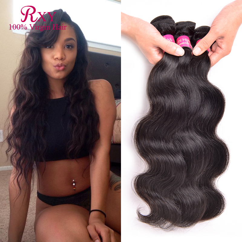 7A Unprocessed Indian Virgin Hair Body Wave 3 bundle deals Virgin Indian Hair 6''-28'' Raw Indian Hair Cheap Human Hair Weave(China (Mainland))
