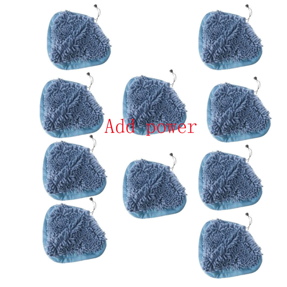 New 10 pcs Steam Cleaner Washable Coral Mop Cloth Coral Blue Pad For H2O H20 Free Shipping(China (Mainland))