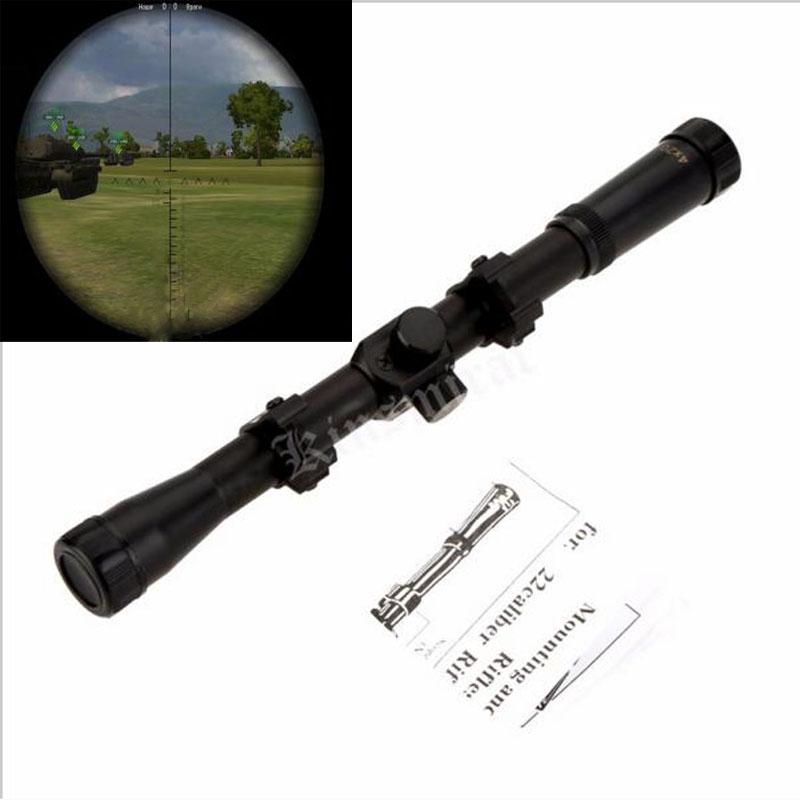 airsoft air guns Rifle Scope 4X20 Telescopic Sights Mounts Riflescopes Hunting Riflescope Airsoft Guns 22 Caliber Rifles