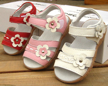 2015 summer baby shoes girls princess  first walkers  toddlers genuine leather shoes kids  real leather floral shoes(China (Mainland))