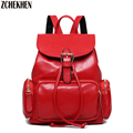 Leather Casual Backpack 2016 New Waterproof Shoulders Bag Female High Quality Leather College School Bags