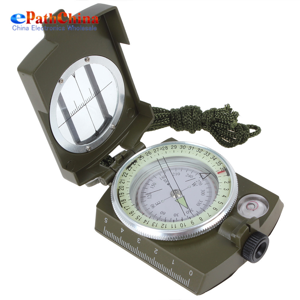 Pocket-size Army Green Accurate Aiming Lensatic Compass with Magnifier for Scouting / Map Reading / Climbing(China (Mainland))