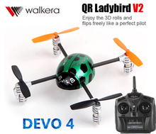 Original Walkera QR Ladybird V2 with DEVO 4 Transmitter 3D RC Helicopter 3-Axis-Gyro 2.4GHz RTF(China (Mainland))