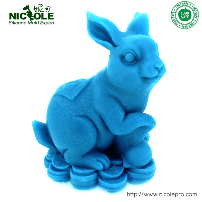 3D Rabbit Shaped Silicone Resin,Clay Molds DIY Salt Carving Moulds(China (Mainland))