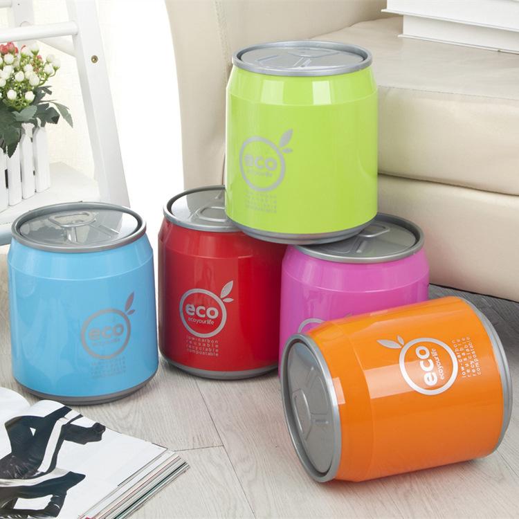 2016 colorful cola portable plastic dustbin kitchen trash can mini table waste bin container. Black Bedroom Furniture Sets. Home Design Ideas