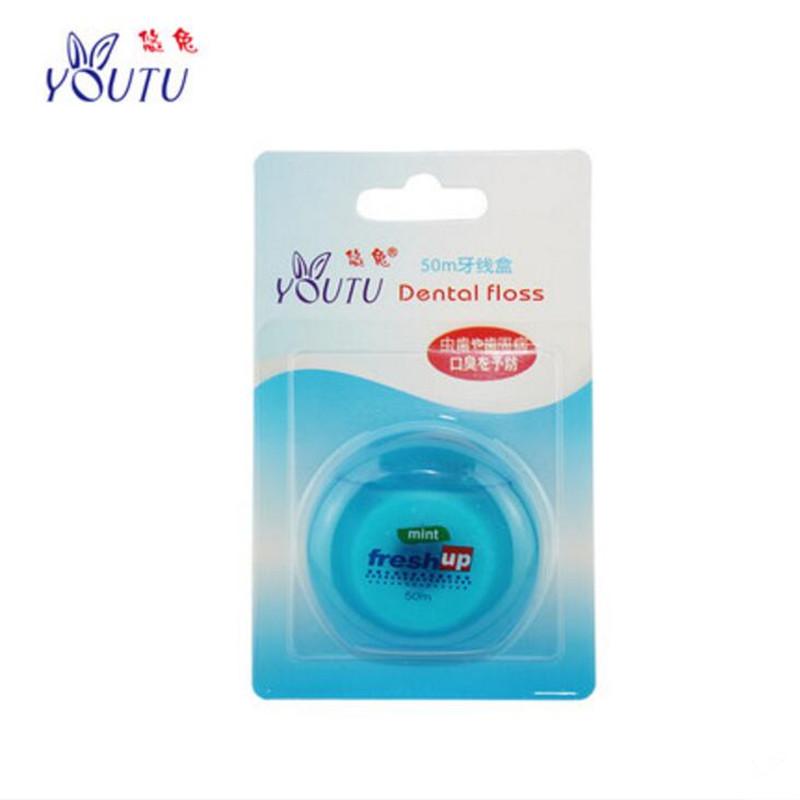 4packs 50M Micro wax Peppermint Mint flavor Dental Flosser Interdental Brush Teeth Stick Toothpicks Floss Pick Oral Hygiene wire