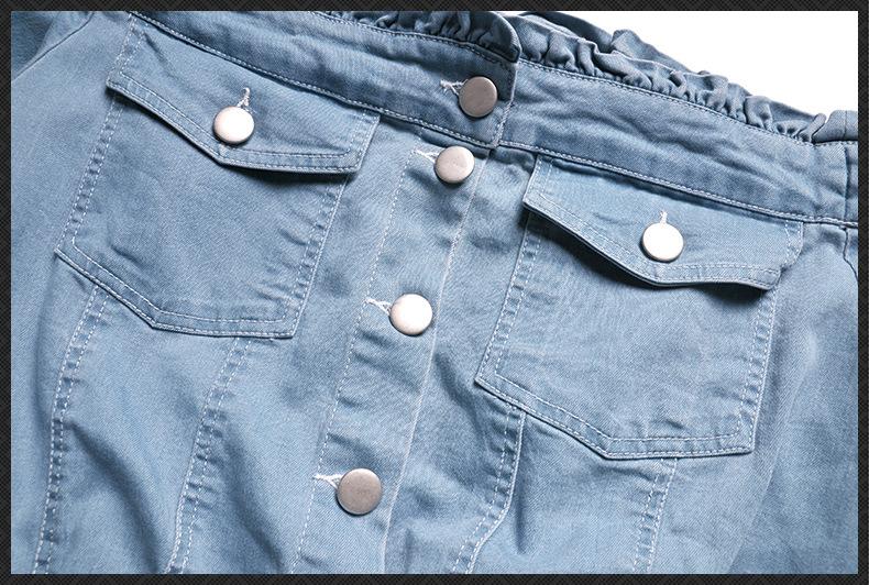 HTB1kfXwQpXXXXbJapXXq6xXFXXXf - Must Have Women's Clothing Set, 2017 New Slash Neck Half Sleeve Denim Top and Denim Cotton Skirt One Set