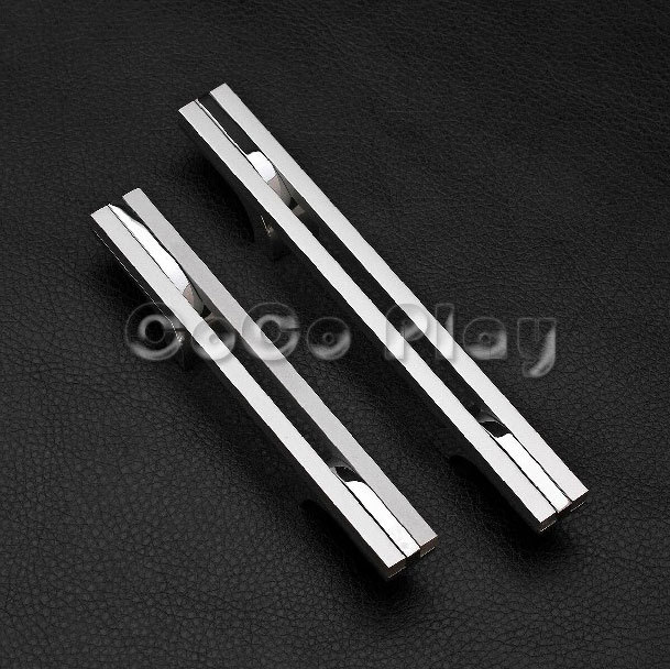 96mm Hole Distance New Modern Brief Design Cut Alloy Kitchen Cupboard Cabinet Drawer Pull Furniture Wardrobe Door Handle - SuperCoCo store