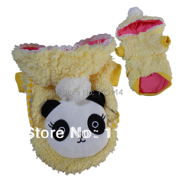 ALL SIZE Cute Plush Yellow Dog Hoodie Coat Cotton Dog Clothes Pet Supplies Apparel(China (Mainland))