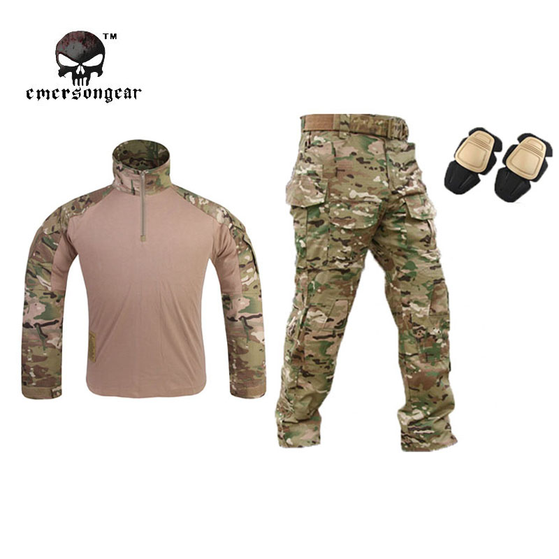 Emersongear G3 Combat Shirt Pants Military BDU Airsoft Tactical Gear Paintball Hunting Uniform Emerson Multicam - IDoutdoor Industries Store store