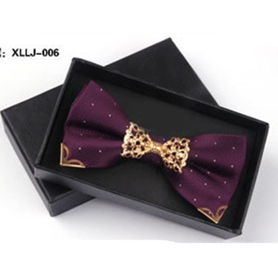 high quality bow cravat bowknot Bow tie Fashion male bow ties men married groom color block
