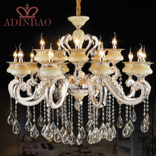 Noble Big Top K9 Crystal Chandelier Lamp Hotel Wedding Decor Lamp Lighting Fixture For Living Room XW8318-10+5(China (Mainland))