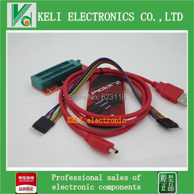 Free Shipping 1LOT=2PCS PICKIT2 Programmer + PIC ICD2 PICKit 2 PICKIT 3 Programming Adapter Universal Programmer Seat FZ0508(China (Mainland))
