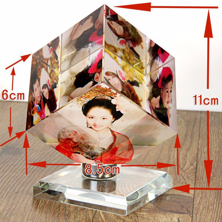 2015 new style 3d photo crystal cube six Photo Panels Magic Photo Cube(China (Mainland))