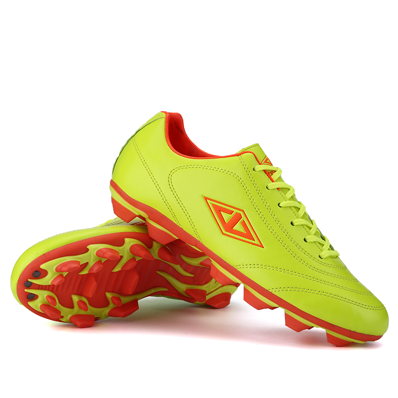 New Mens Boys Soccer Cleats Football Soft Ground Soccer Shoes Orange Blue Football Cleats 2016 Training Shoes Sport Orange Shoe(China (Mainland))