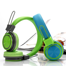 NEWEST Retractable Foldable Kids Headband Earphone with Mic Stereo Bass with Function Headset 3.5mm line in Free shipping