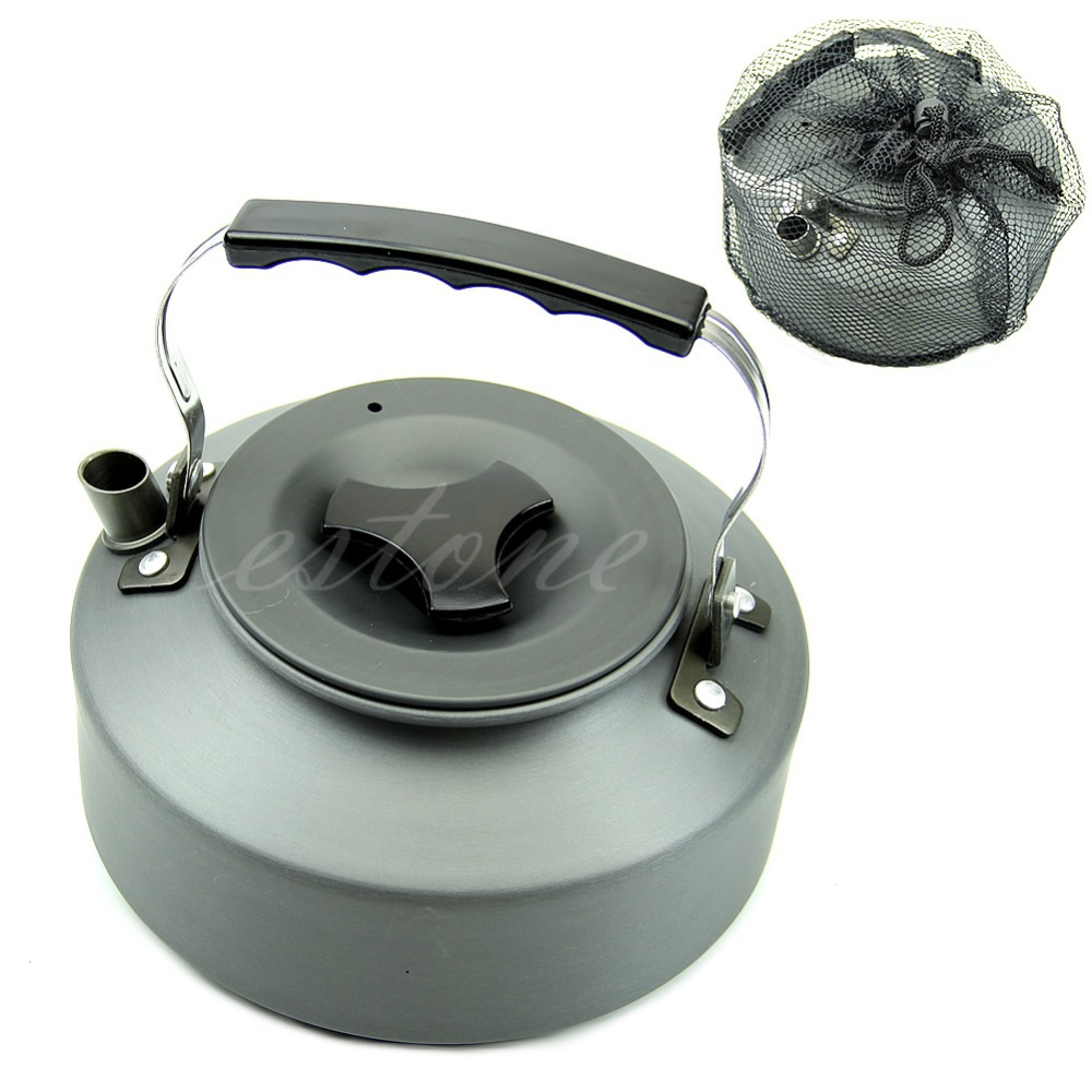 1.1L Portable Outdoor Camping Survival Coffee Pot Water Kettle Teapot Aluminum(China (Mainland))