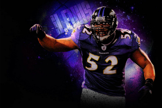Ray Lewis NFL Football Baltimore & Ravens 52 Sill Canvas wall poster Sports Gym pictures and printings 14(China (Mainland))
