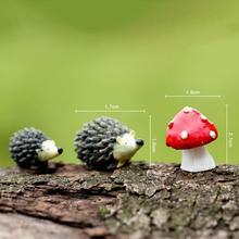 DIY Craft Deco Ornament Hedgehog three-piece Micro Landscape Bonsai Plant Garden Decor Stakes(China (Mainland))