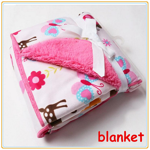 baby blanket coral fleece for newborn Super Soft infant Carters cotton Bedding set girl boy sleeping product Sales size 76*102(China (Mainland))