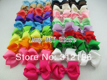 EMS Free Shipping!1000pcs/lot Baby Hair Bows WITHOUT Clip,3'' Boutique Hairbows For DIY Baby Girls Hair Accessories,40 Colors