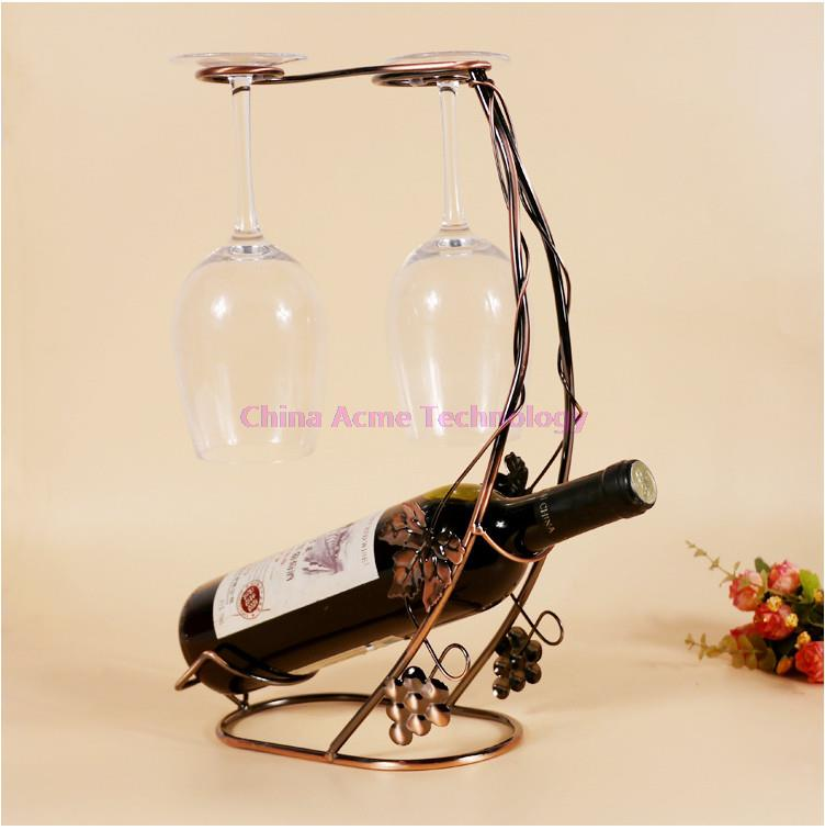 Moon Creative Metal Iron Wine Holder Glass Cups/Bottle Holder Home Kitchen Dinner Living Room Decor Collection Antique Beer Bar(China (Mainland))