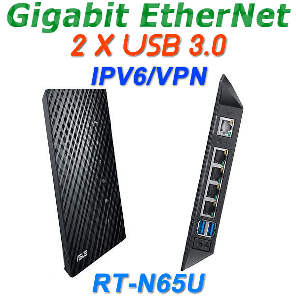 RT-N65U 802.11AC 750Mbps Wireless Gigabit Router WiFi Router Wi Fi Repeater With 2 USB 3.0 Port For ASUS Print Server/FTP/VPN(China (Mainland))