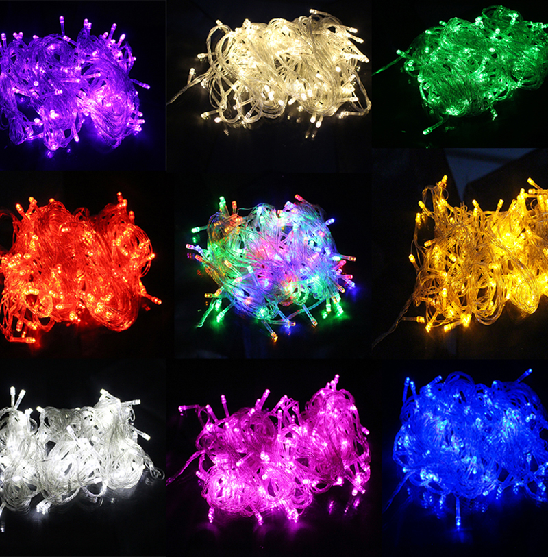 10M Waterproof 110V/220V 100 LED holiday String lights for Christmas Festival Party Fairy Colorful Xmas LED String Lights(China (Mainland))